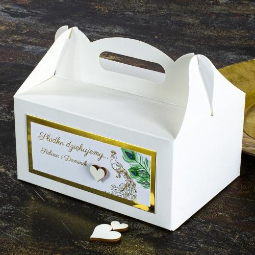 Duże pudełko na ciasto - Pawie oczko