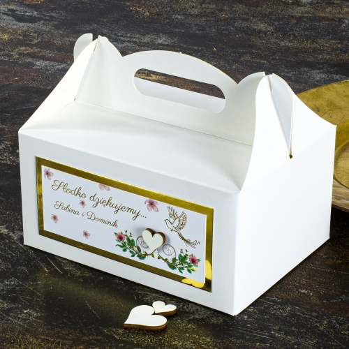 Duże pudełko na ciasto - Rajski ptak