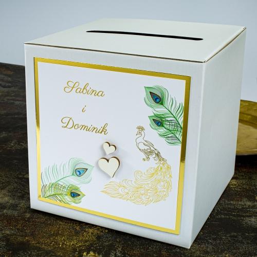 Pudełko na koperty - Pawie oczko
