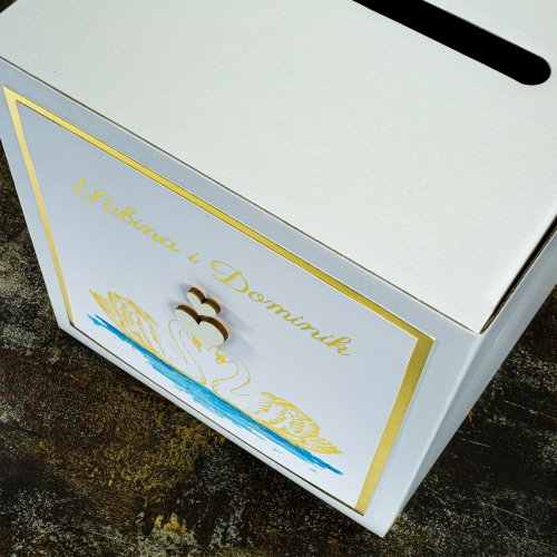 Pudełko na koperty - Dostojne łabędzie