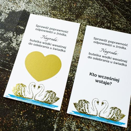 Zdrapki weselne - Dostojne łabędzie - 24 sztuki