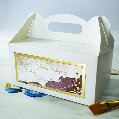Duże pudełko na ciasto - Colorful II