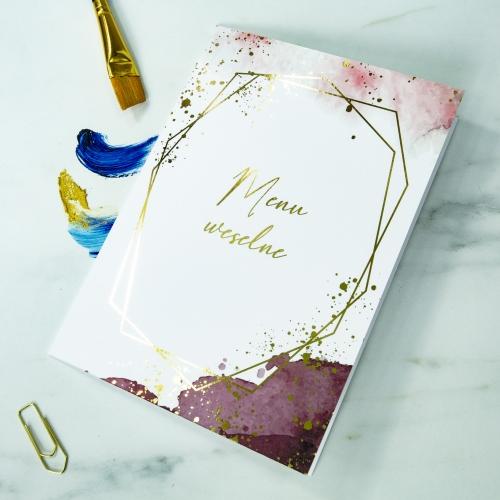 Menu weselne - Colorful II