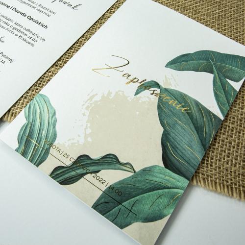 Zaproszenia ślubne - Tropical I