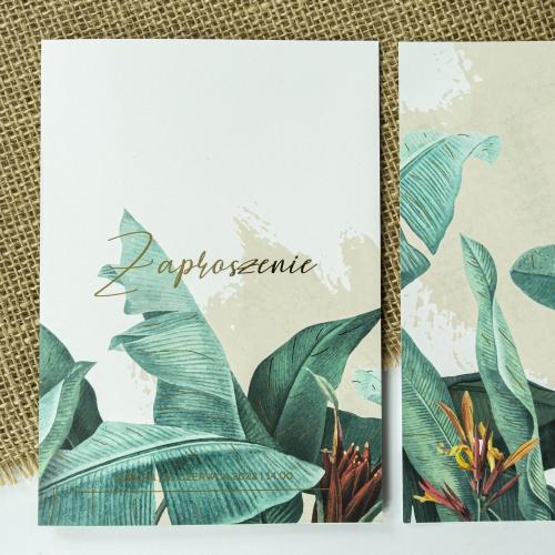 Zaproszenia ślubne - Tropical II