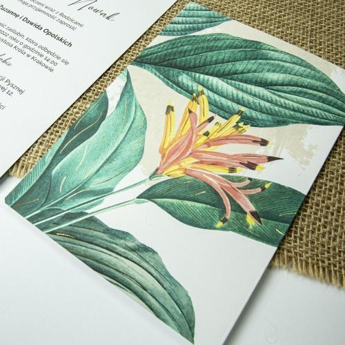 Zaproszenia ślubne - Tropical III