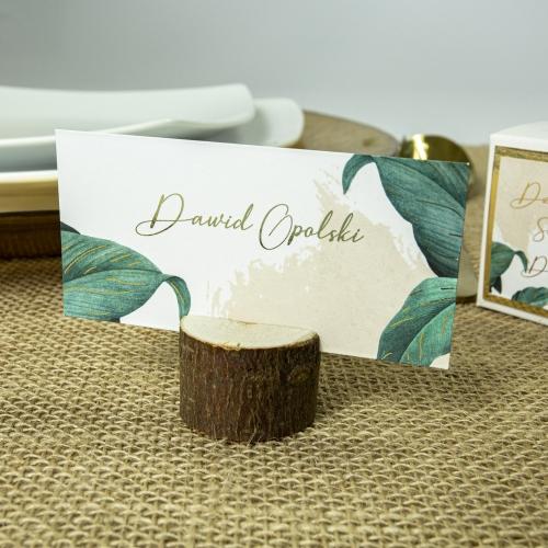 Winietki ślubne - Tropical I - z drewienkiem