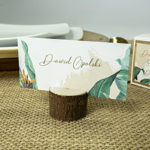 Winietki ślubne - Tropical II - z drewienkiem