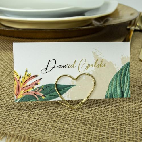 Winietki ślubne - Tropical III - na stojaku