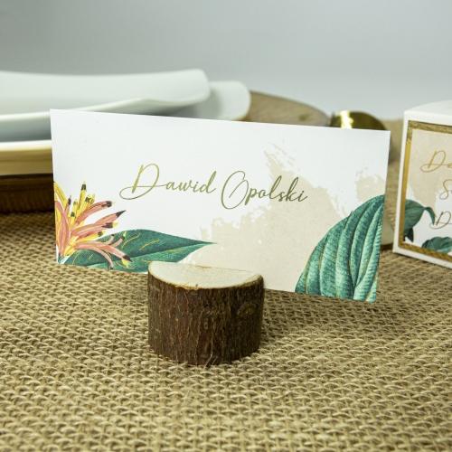 Winietki ślubne - Tropical III - z drewienkiem
