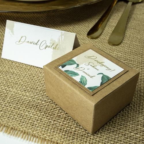 Pudełeczka dla gości - Eko - Tropical (10 sztuk)