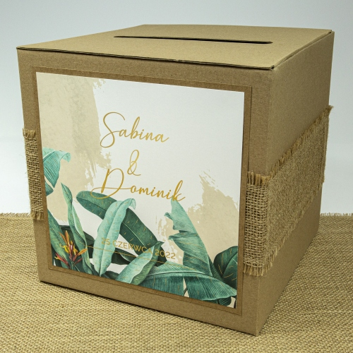 Pudełko na koperty - EKO - Tropical II