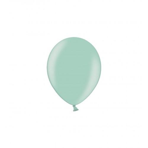 Jasnomiętowe, metaliczne balony (100 sztuk)