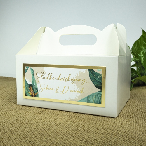 Duże pudełko na ciasto - Tropical II