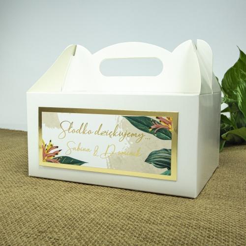 Duże pudełko na ciasto - Tropical III