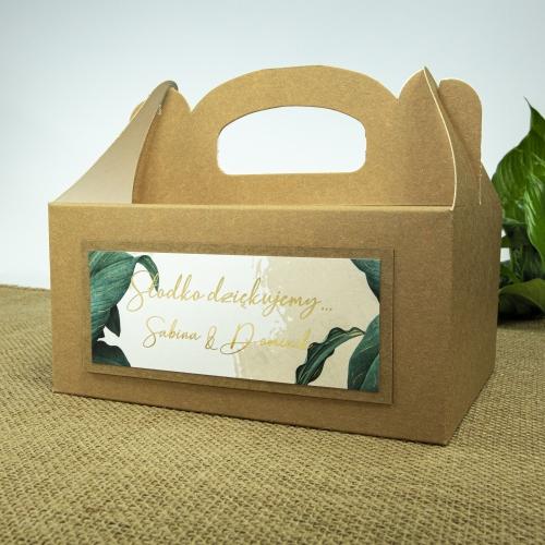 Duże pudełko na ciasto z papieru czerpanego - Tropical I
