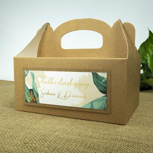 Duże pudełko na ciasto z papieru czerpanego - Tropical II
