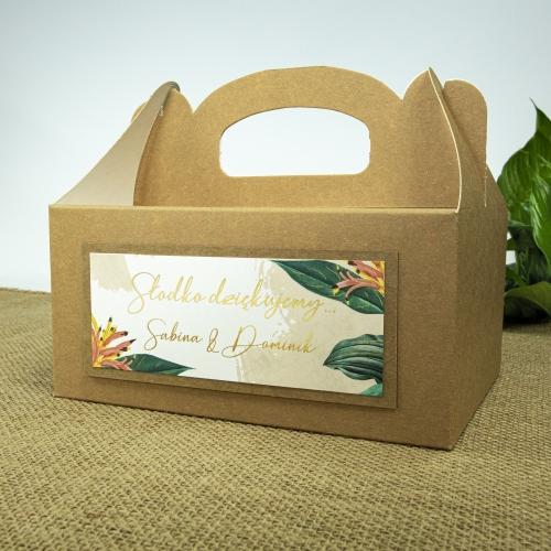 Duże pudełko na ciasto z papieru czerpanego - Tropical III