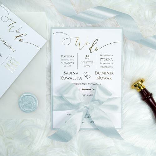 Zaproszenia ślubne - We Do - Błękitny
