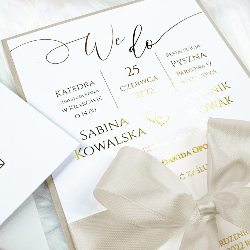 Zaproszenia ślubne - We Do - Kremowy