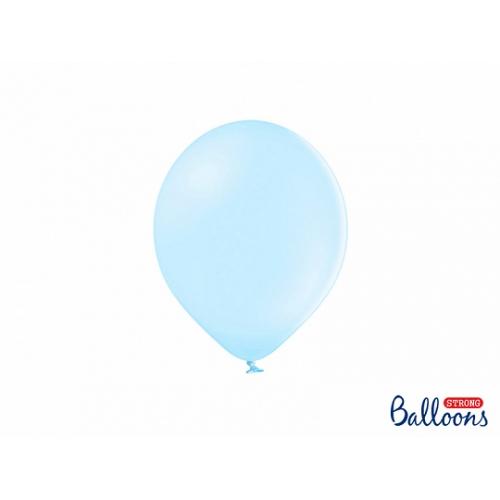 Błękitne, pastelowe balony (100 sztuk)