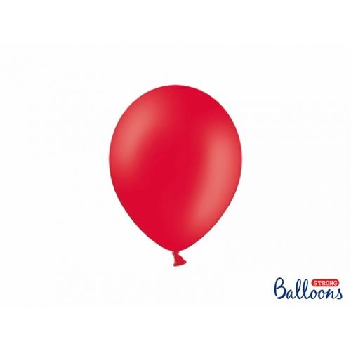 Czerwone, pastelowe balony (100 sztuk)