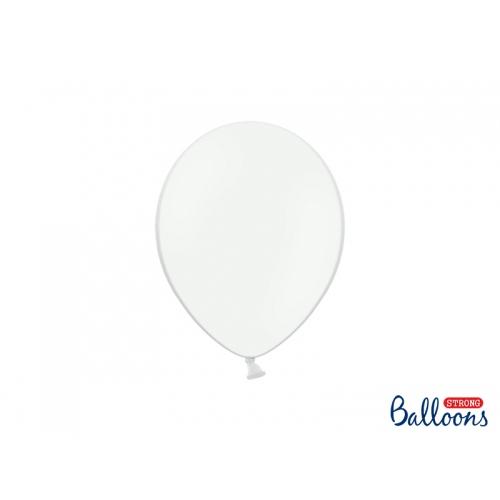 Białe, pastelowe balony (100 sztuk)