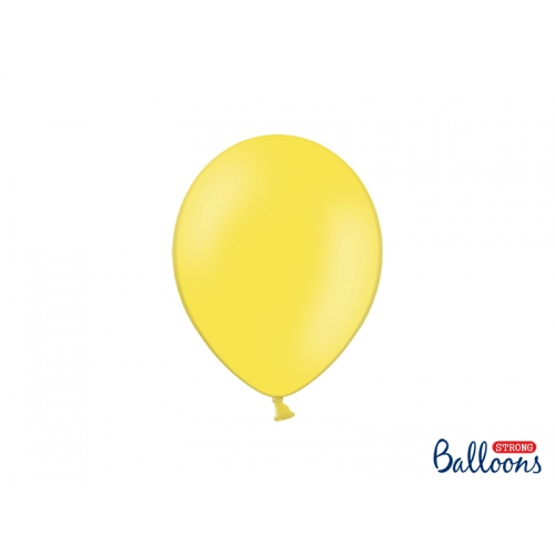 Cytrynowe, pastelowe balony (100 sztuk)