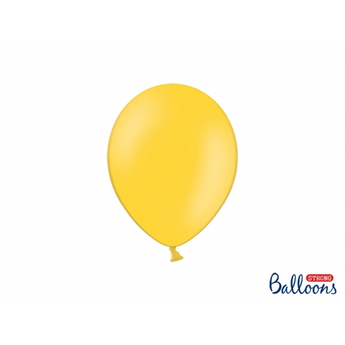 Żółte, pastelowe balony (100 sztuk)