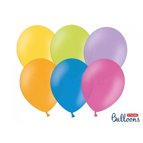 Mix kolorów, pastelowe balony (100 sztuk)