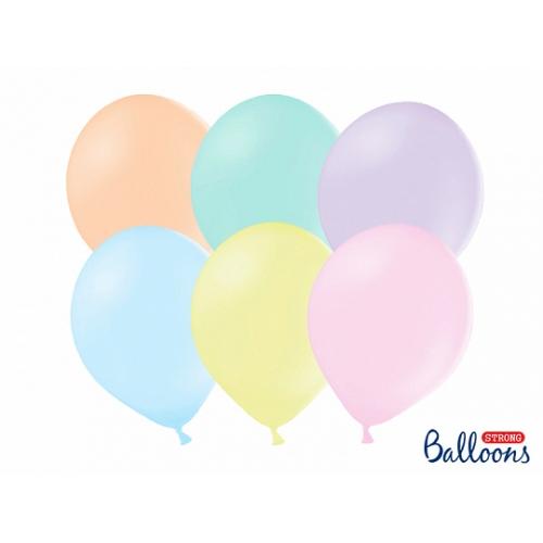 Jasny mix kolorów, pastelowe balony (100 sztuk)