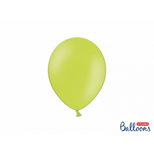 Limonkowe, pastelowe balony (100 sztuk)