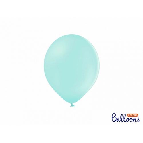 Jasno miętowe, pastelowe balony (100 sztuk)
