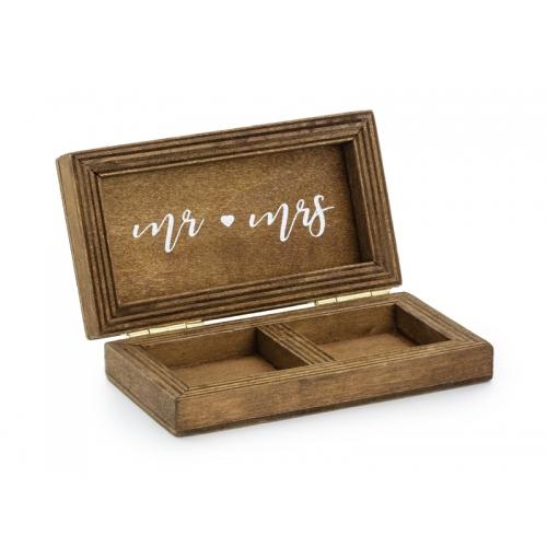 Pudełeczko na obrączki drewniane
