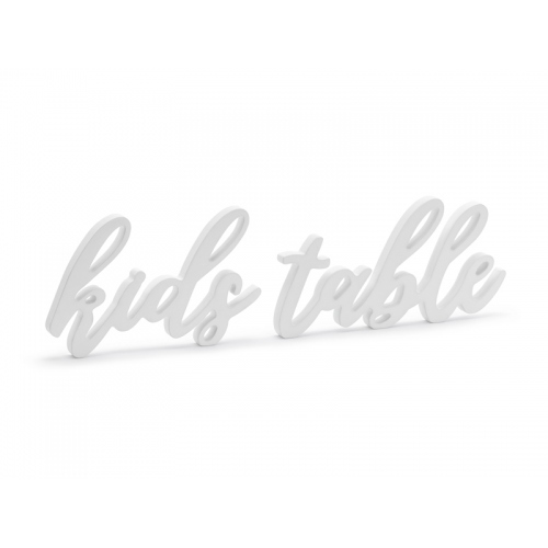 "Drewniany napis ""Kids table"""