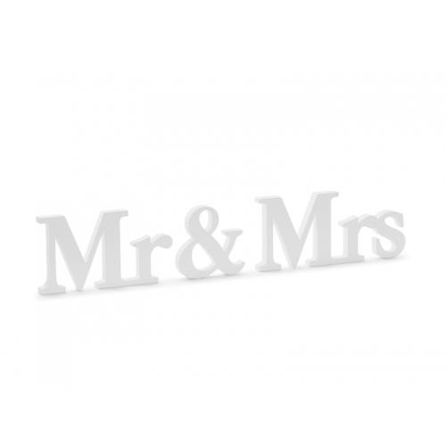 "Drewniany napis ""Mr & Mrs"""