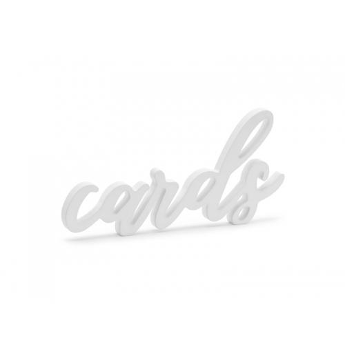 "Drewniany napis ""Cards"""