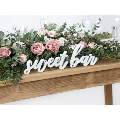 "Drewniany napis ""Sweet bar"""