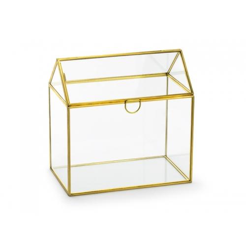 Pudełko na koperty - szklane