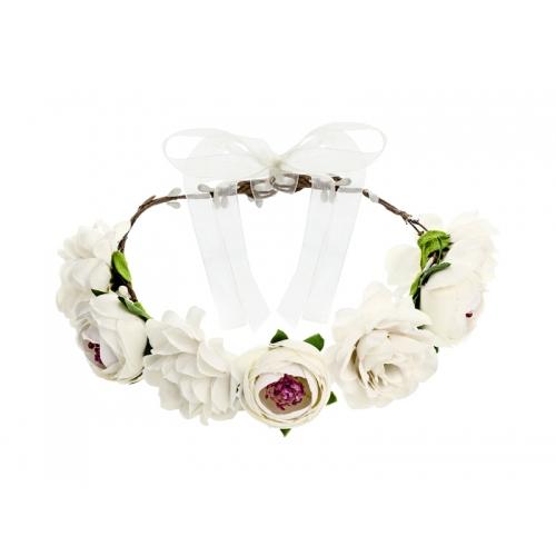 Wianek z kwiatów - biały