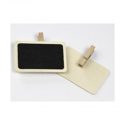 Tabliczki kredowe z klamerką (2 sztuki)