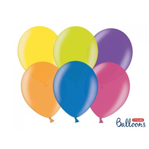 Mix kolorów, metaliczne balony (100 sztuk)