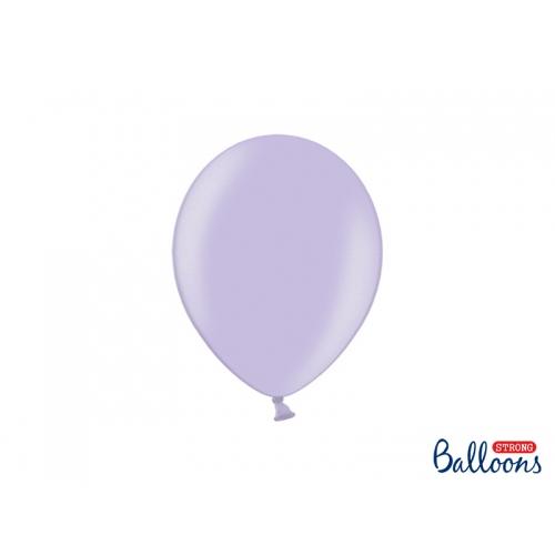 Lawendowe, metaliczne balony (100 sztuk)