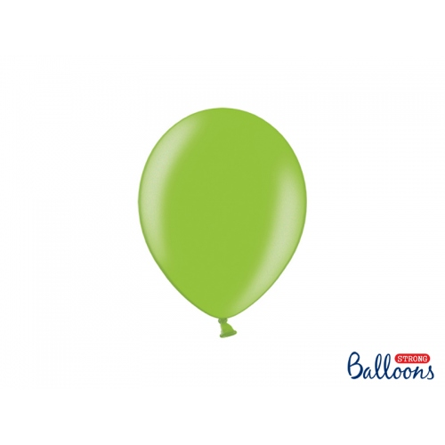 Zielone, metaliczne balony (100 sztuk)