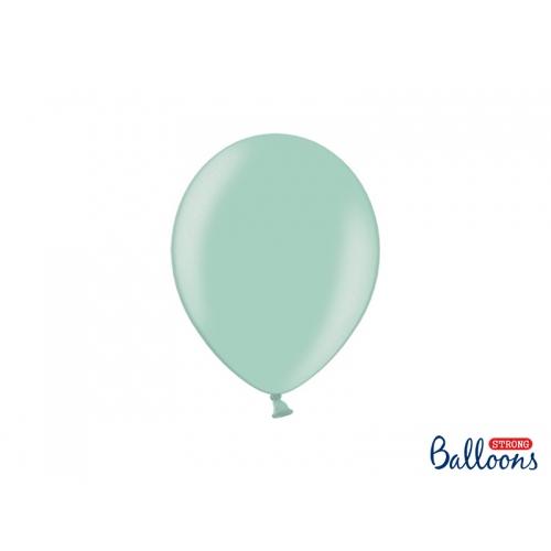 Miętowe, metaliczne balony (100 sztuk)