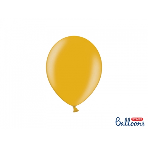 Złote, metaliczne balony (100 sztuk)