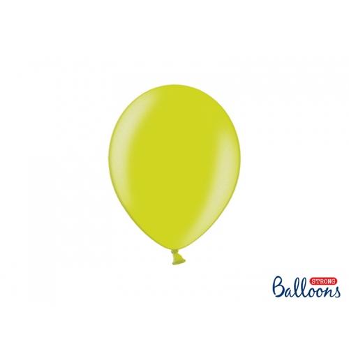 Jasnozielone, metaliczne balony (100 sztuk)