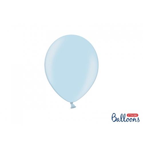 Błękitne, metaliczne balony (100 sztuk)