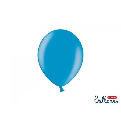 Niebieskie, metaliczne balony (100 sztuk)