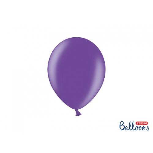 Fioletowe, metaliczne balony (100 sztuk)